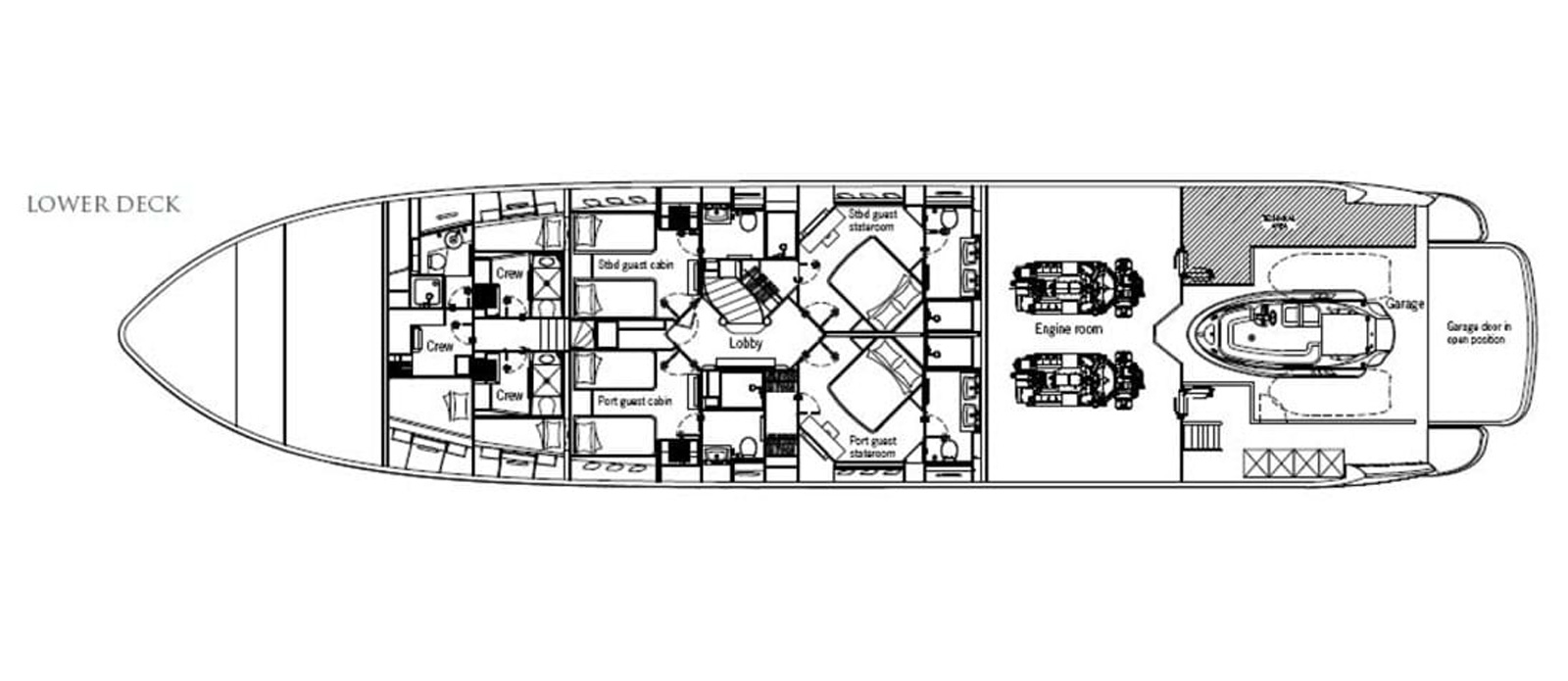 Frivolous - Lower Deck Layout