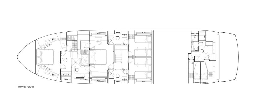MiBowt Sunseeker 86 Yacht Lower-Deck