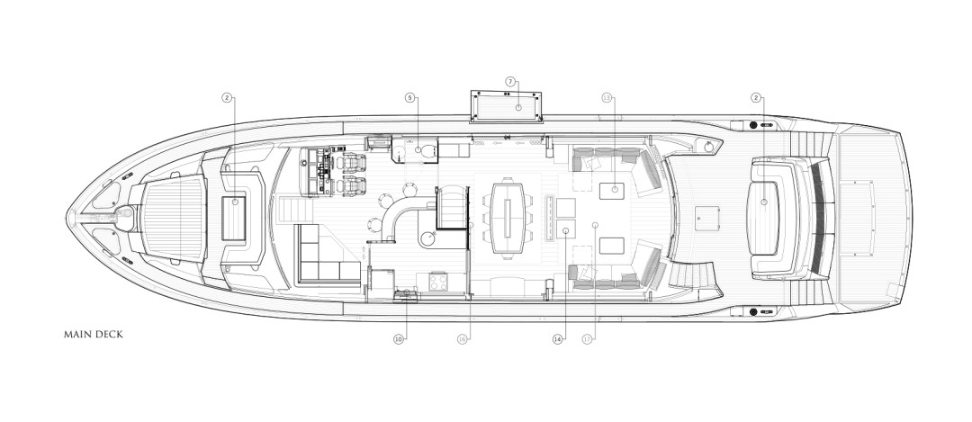 MiBowt Sunseeker 86 Yacht Main-Deck