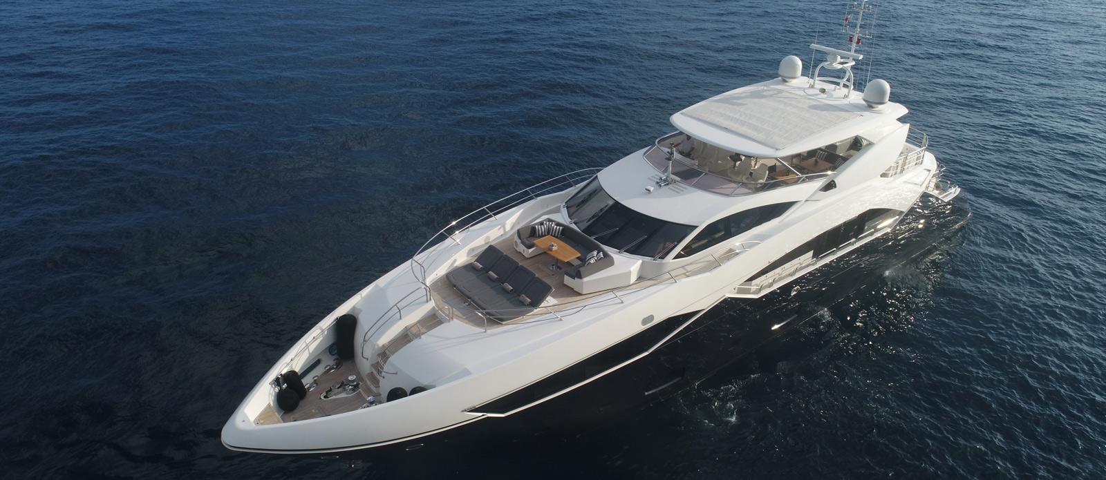 Sunseeker-115-Sport-Yacht-Zulu-Bow-Drone-Photo