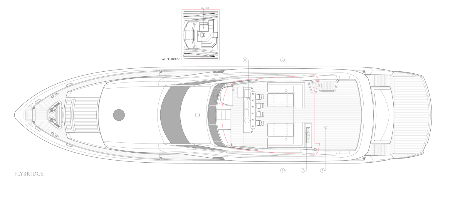 Sunseeker-30-Metre-Yacht-Tuppence-Flybridge-Layout