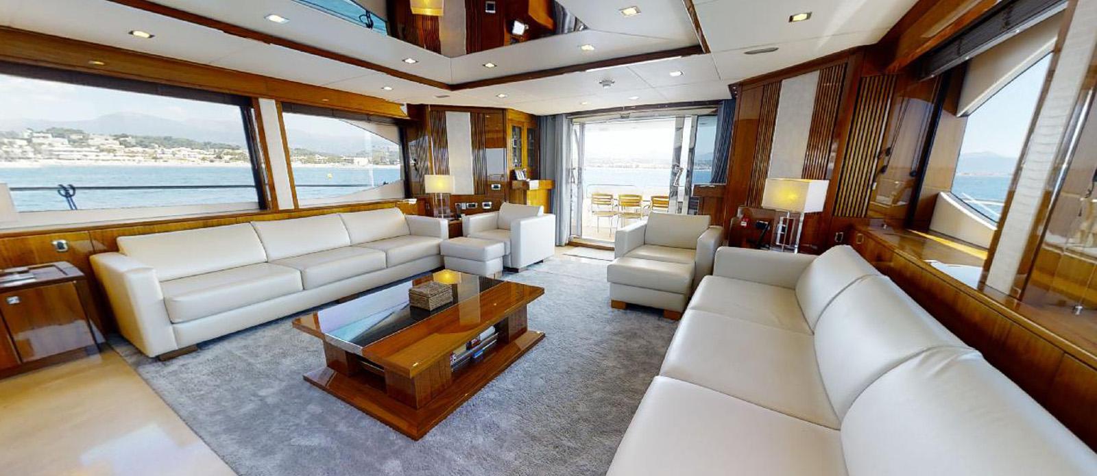 Sunseeker 30 Metre Yacht - Saloon 2 -Tuppence