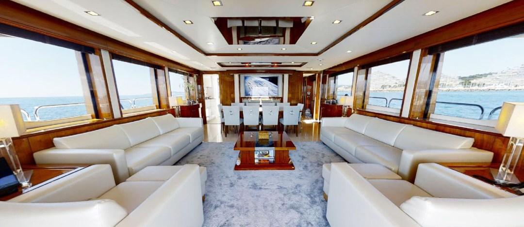 Sunseeker 30 Metre Yacht - Tuppence - Saloon