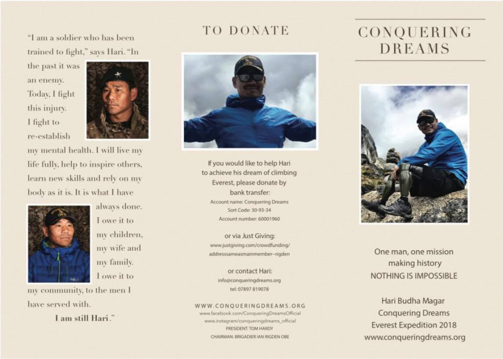 Conquering Dreams Everest Expedition 2018 Flyer 1