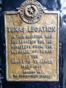 texas legation london