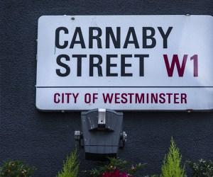 Street sign saying 'Carnaby Street', London