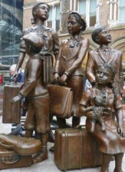 'Kindertransport' statue at Liverpool street