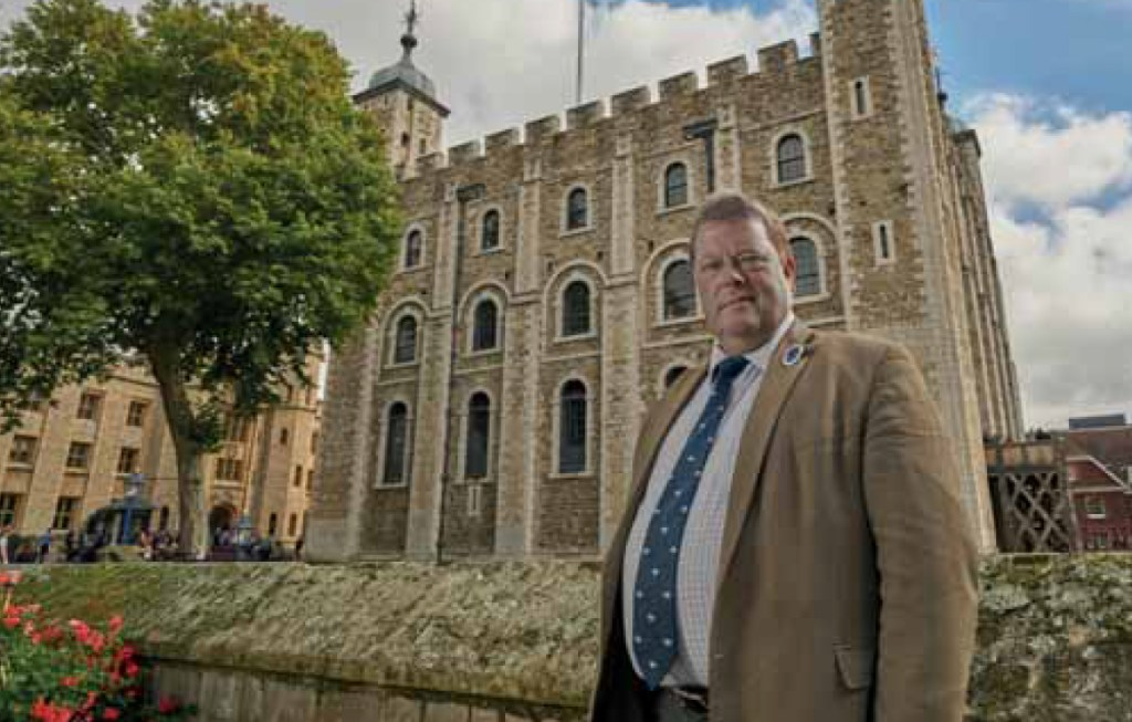 Tim Hudson at the Tower of London