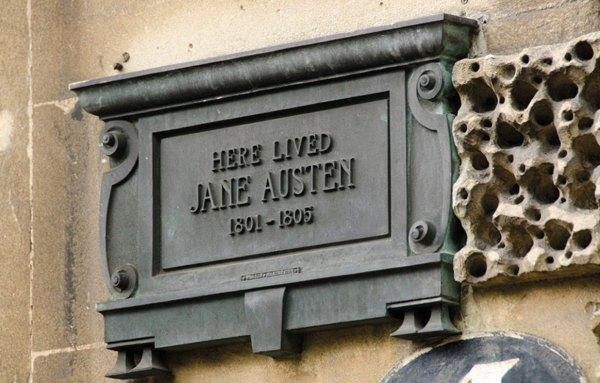Jane Austen plaque