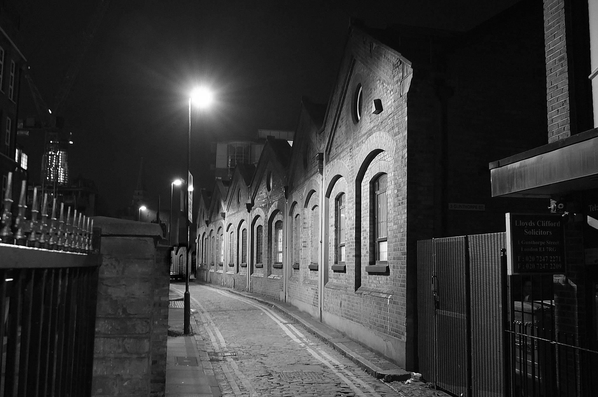 Gunthorpe St (formerly George Yard) where a possible early Ripper victim was killed
