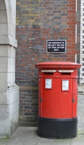 london red post boxes