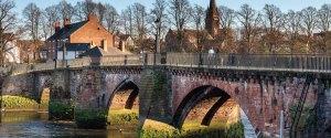 Bridge over a river in Chester