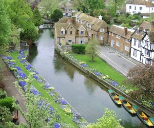 Ariel view of a canal in Canterbury