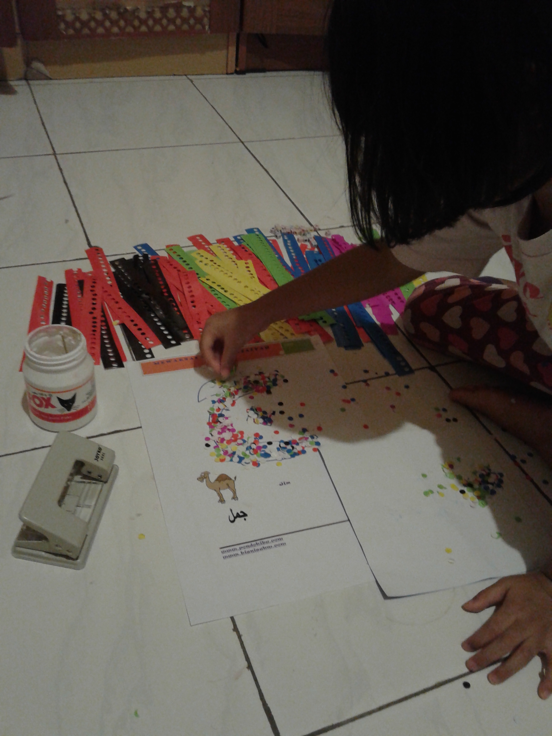 Mewarnai Dengan Origami Cerita Bunda