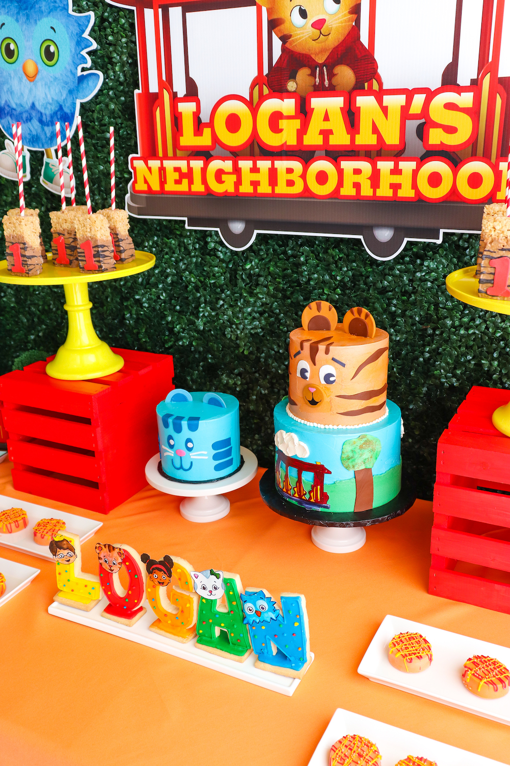 Our Daniel Tiger 1st Birthday Party Brite And Bubbly