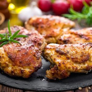Pastured Organic- Chicken Thigh, juicy dark meat. Jay's favorite!