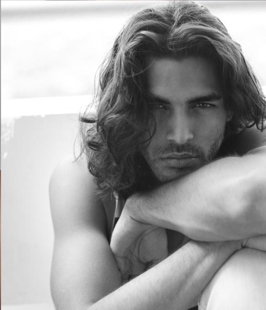Image result for long hair male model