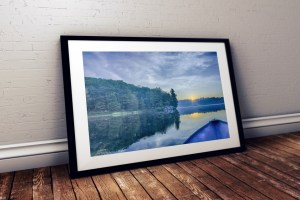 blue lake framed lake devine by BritHikesOntarop