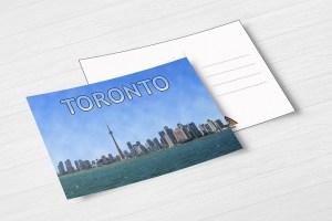 Toronto Skyline Postcard by BritHikesOntario