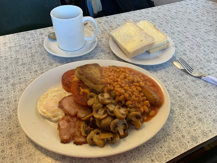 The Pantry Cafe Full English Breakfast with Coffee