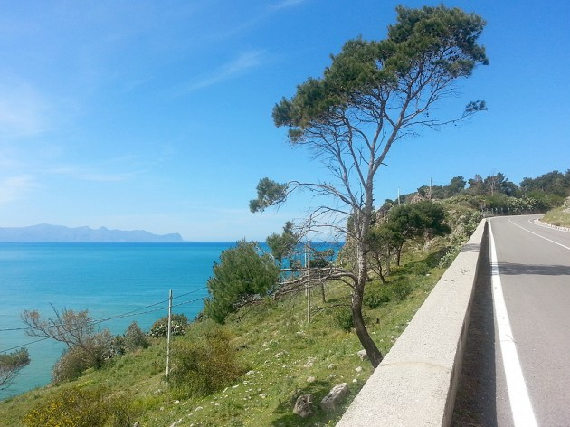 On-Sicily Coastal routes provide great views