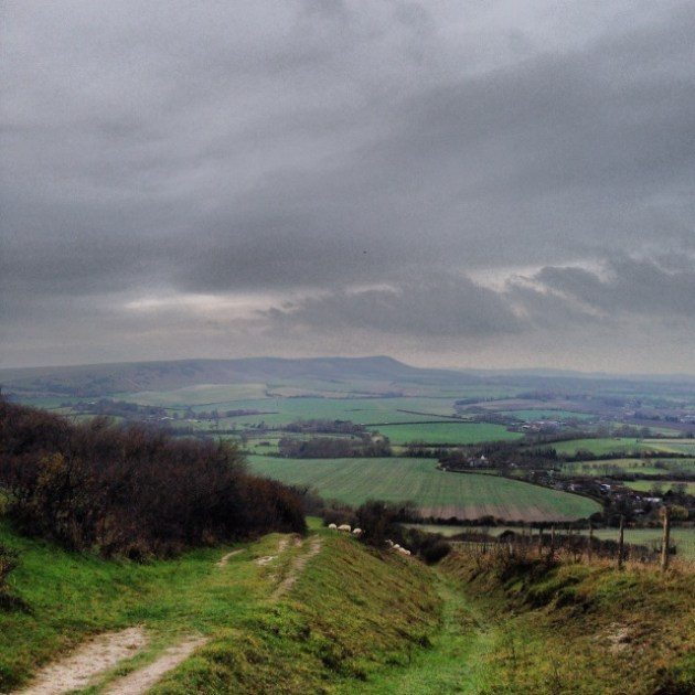 Windover Hill to Firle Beacon and the Bostals and Burghs in between