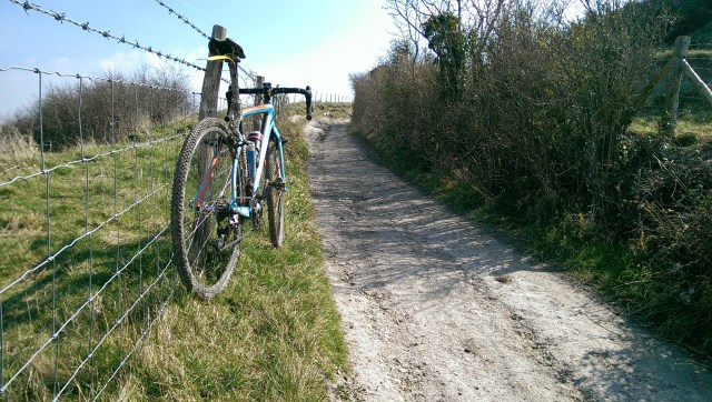 The South Downs Way, it's chalky and bumpy, probably best ride it on a full suspension mtb no?