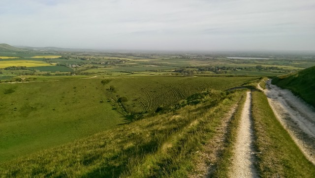 Looking back down the climb of Windover Hill, one of the last big climbs on the CX Century