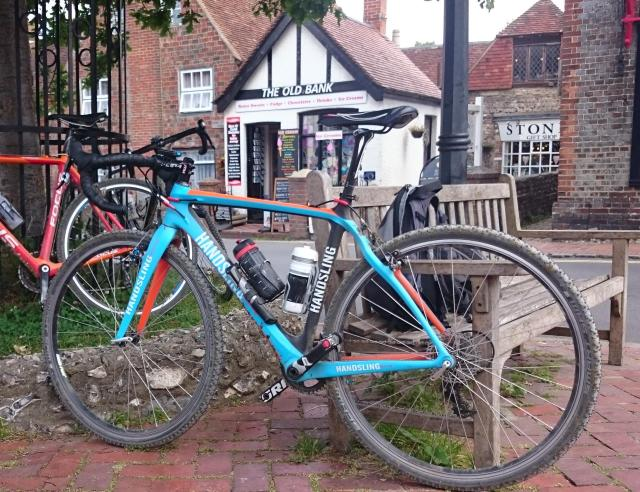 My Handsling CXC takes a rest at Alfriston before the final two climbs of the CX Century