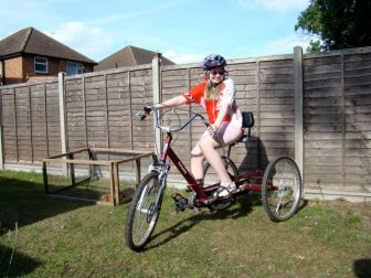 As the years passed a new trike was aquired for Niamh