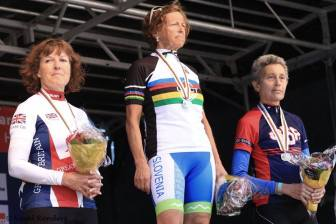 Pauline Bambury takes in silver in her first ever road race!