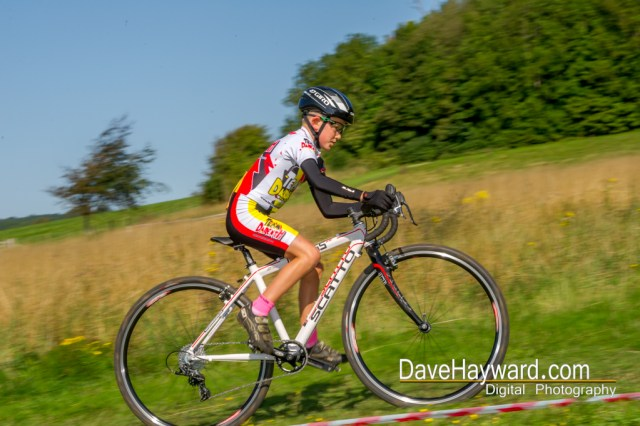 Alfie Amey on his way to winning the Under 10's. Photo courtesy of Dave Hayward