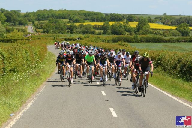 Hopefully the 2016 Tour of Cambridgeshire will be run off under the same blue skies and gentle winds as last year. Photo courtesy of Sportograf.com