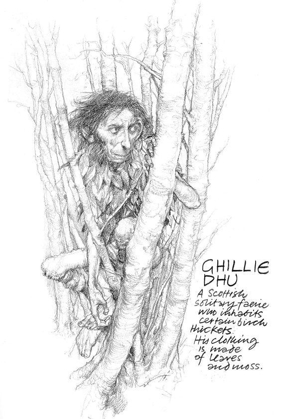 Ghillie Dhu Greeting Card By Jefflikestodraw Redbubble