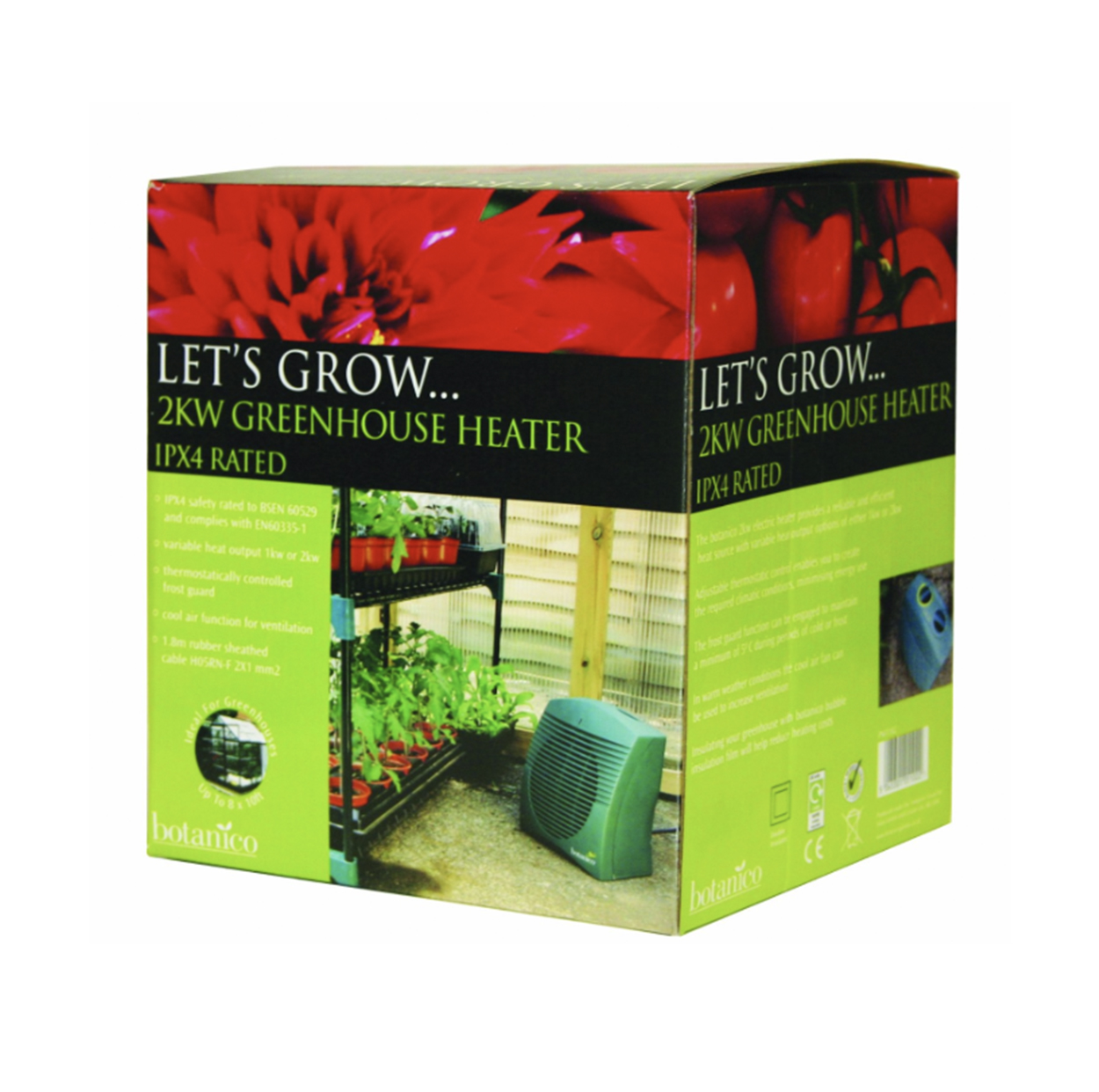 lets grow 2kw greenhouse heater