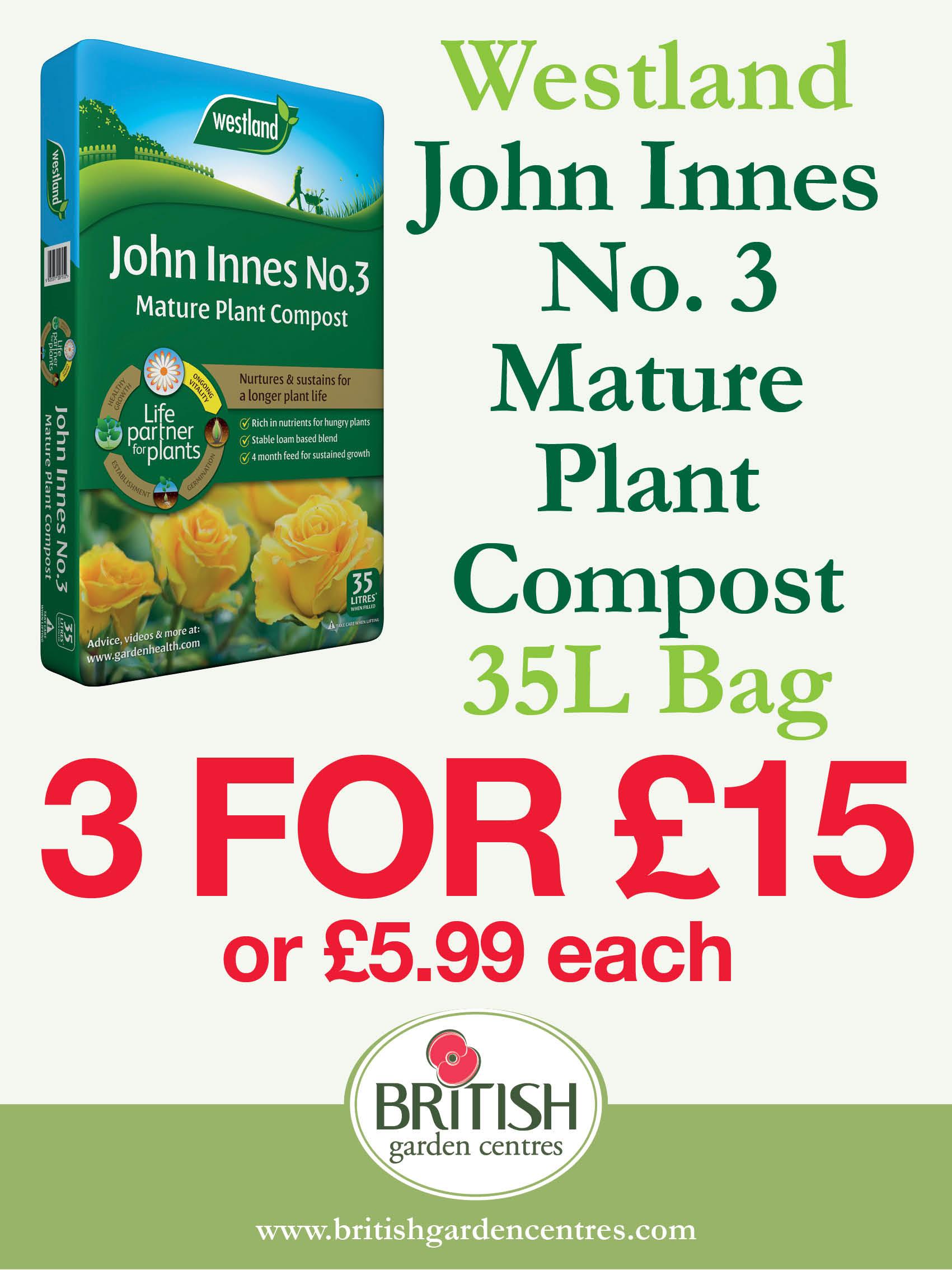 John Innes No.3 Mature Plant Compost 35L