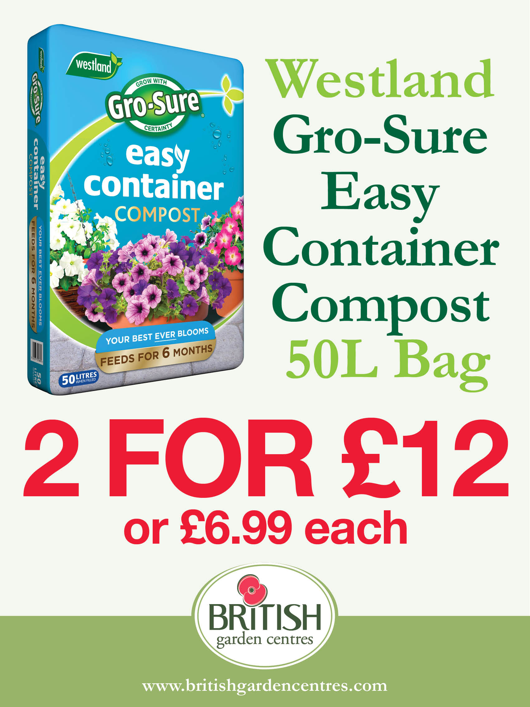 Gro-Sure Easy Container Compost 50L