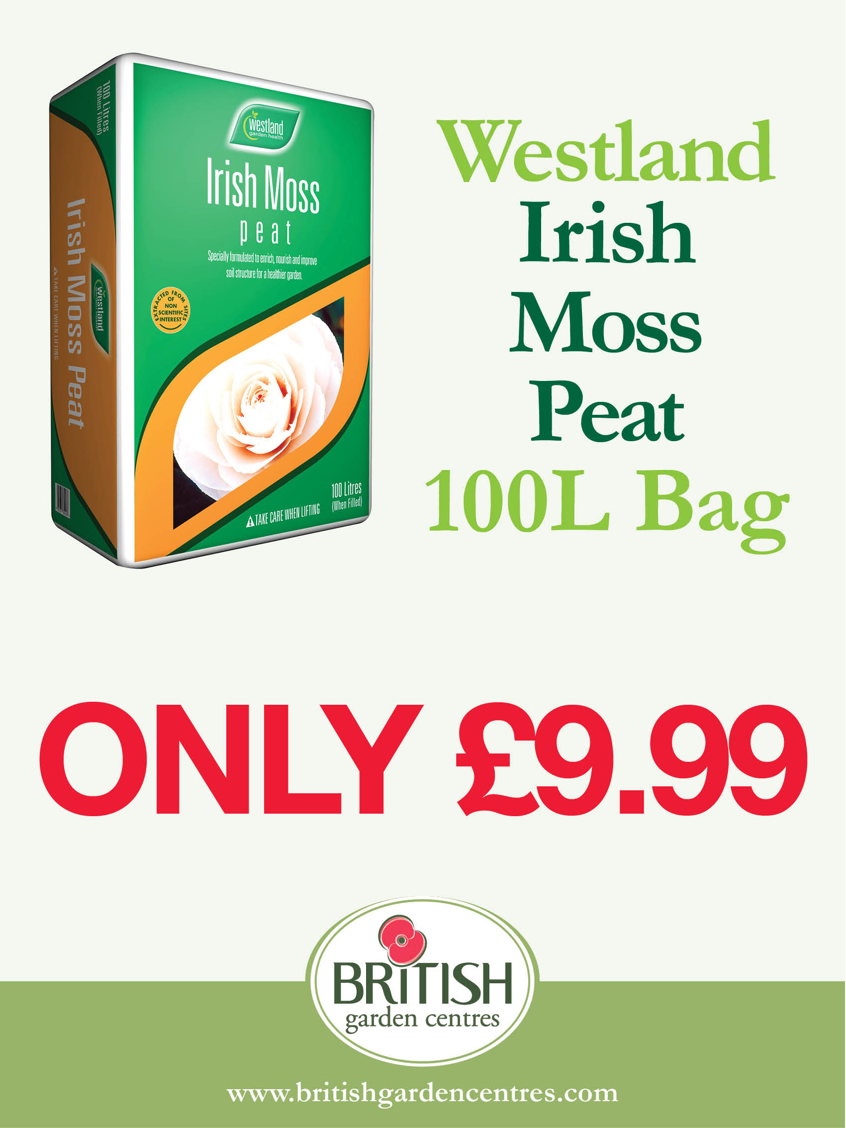 Westland Irish Peat Moss 100L