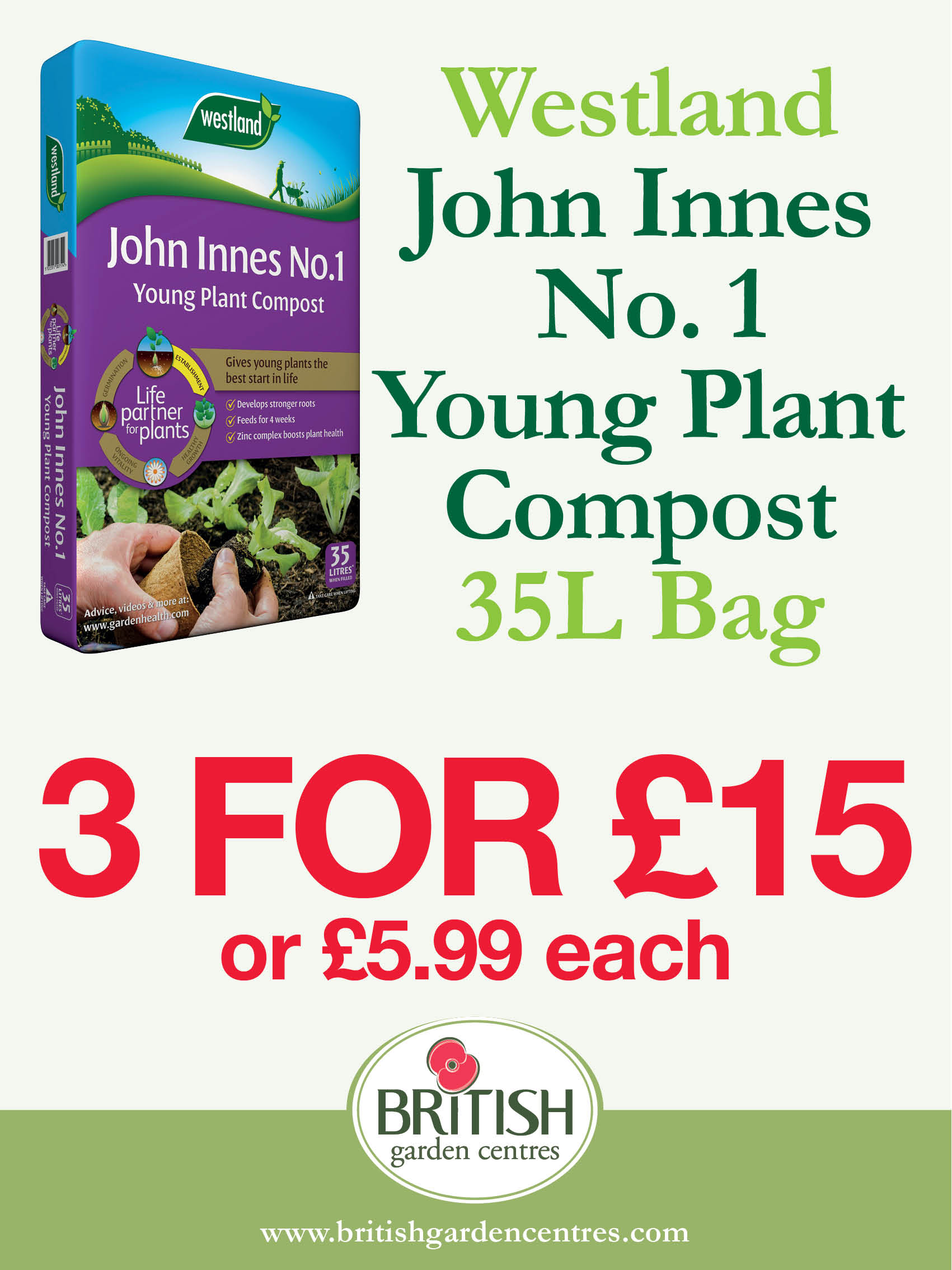 John Innes No. 1 Young Plant Compost 35L
