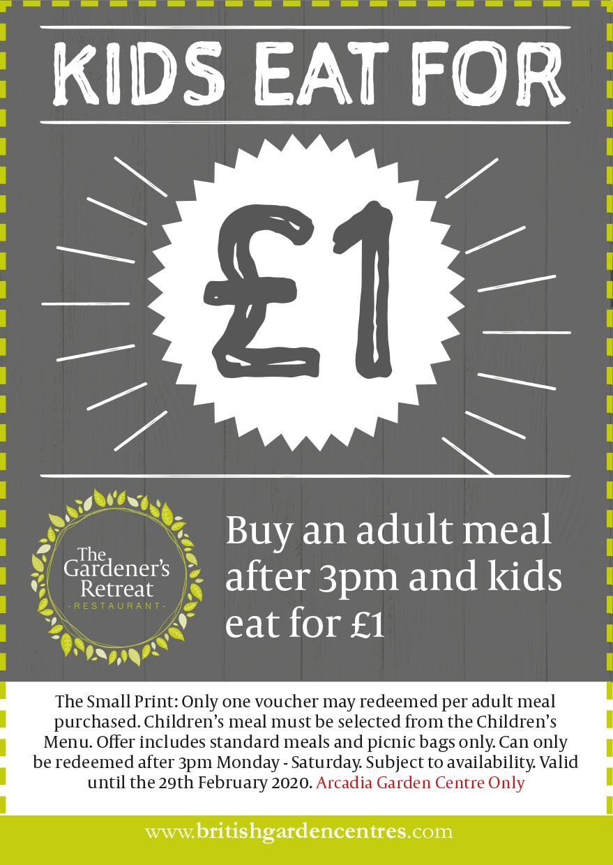 Winter Warmer Kids eat for £1