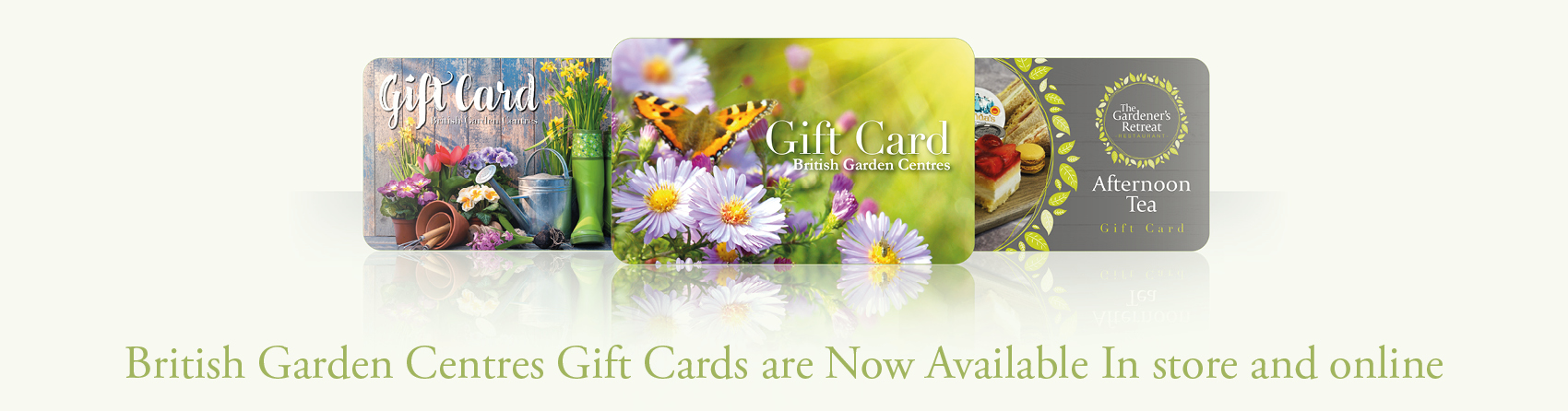 Garden Centre Gift cards available online