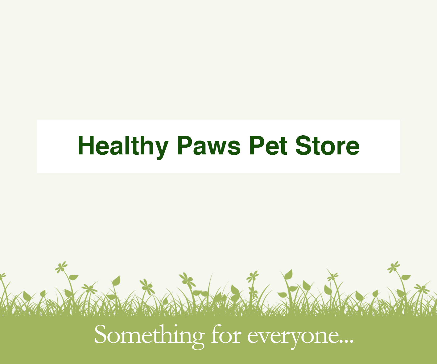 Healthy Paws Pet Store at Charlecote Garden Centre