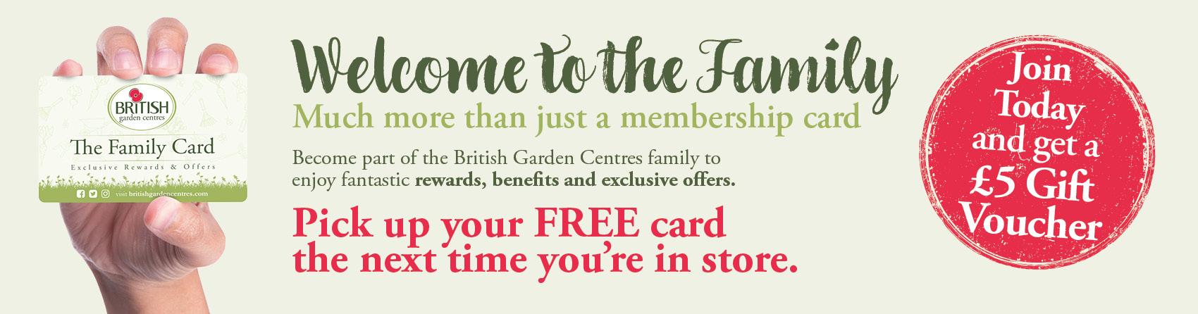 The British Garden Centres Family Card