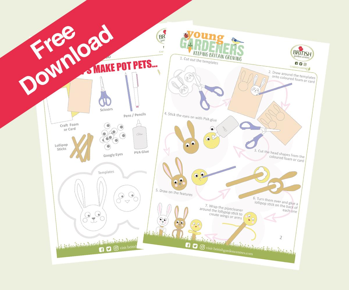 Free download pot pets activity sheet