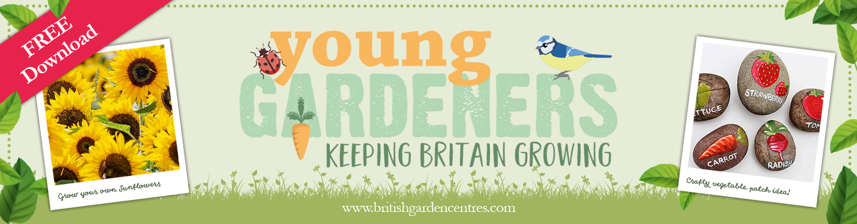 BGC web banner - young gardeners MAY