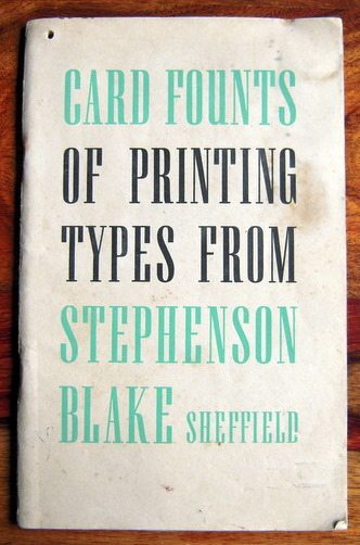 Stephenson, Blake Card Fount Catalogue