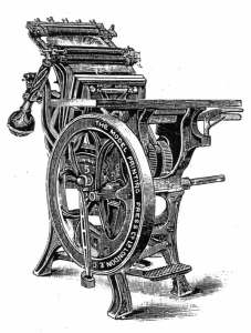 Model Treadle Press (from Excelsior Catalogue)