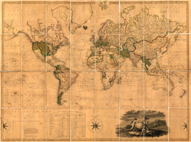 John Melish, The World on Mercator's Projection. 1817. © MacLean Collection Chicago.