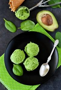 avocado, ice cream