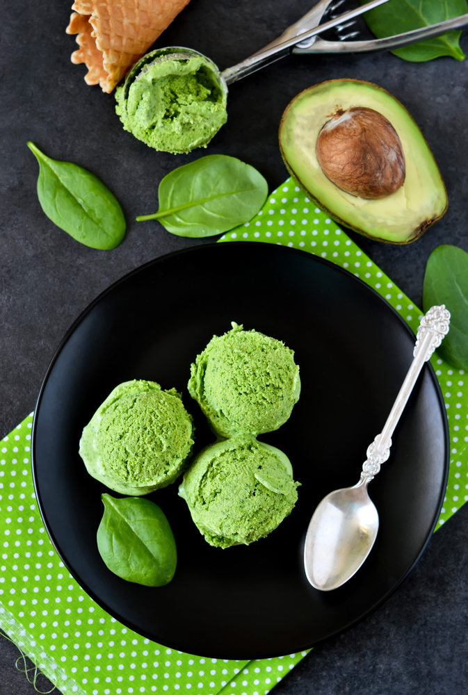 avocado, ice cream